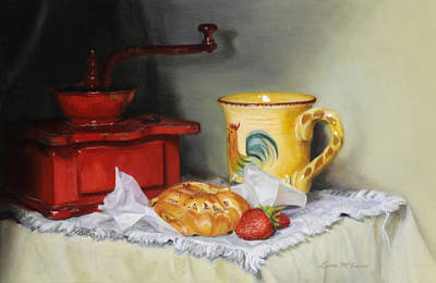 Painting - Coffee Grinder by Sister Laura McGowan