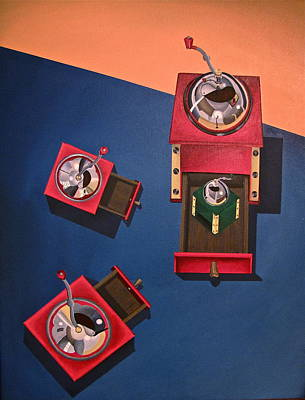 Painting - Coffee Grinders by Lori Miller