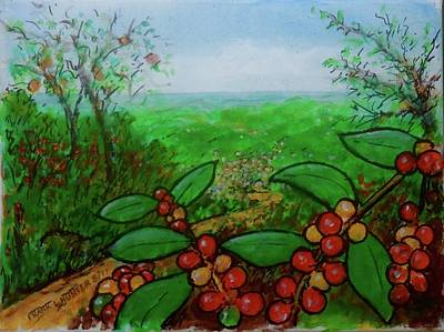 Painting - Coffee Growing At Jayuya Puerto Rico by Frank Hunter