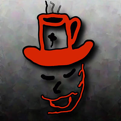 Digital Art - Coffee Hat Man by Philip A Swiderski Jr