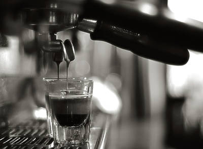 Selective Focus Photograph - Coffee In Glass by JRJ-Photo