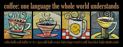 Coffee Language Poster Art Print by Tim Nyberg