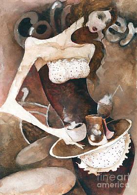 Painting - Coffee Shop by Maya Manolova