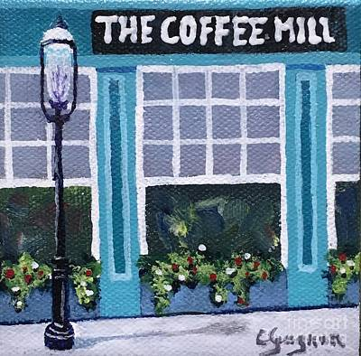 Painting - Coffee Mill Mini by Claire Gagnon