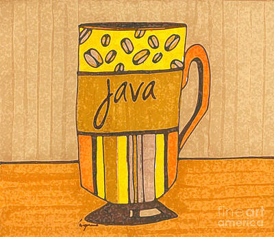Digital Art - Coffee Mug - Java Cup - Cup Of Joe - Morning Coffee Illustration Art by Patricia Awapara