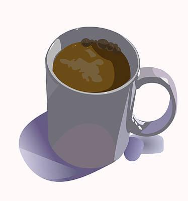 Coffee Mug Art Print by Robert Bissett