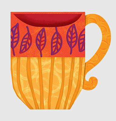 Stylized Beverage Digital Art - Coffee Mug1 by Monette Pangan
