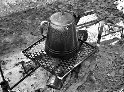 Photograph - Coffee Pot Bw by David Lee Thompson