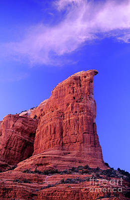 Photograph - Coffee Pot Rock Twilight Sedona Arizona by Dave Welling