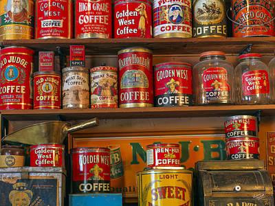 Coffee Shelf Art Print by Leland D Howard