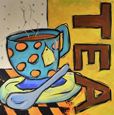 Painting - Coffee Shop Tea by Terri Einer
