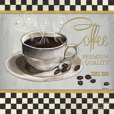 Textiles Painting - Coffee Shoppe 1 by Debbie DeWitt