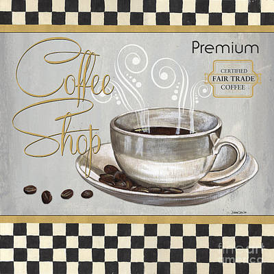 Coffee Shoppe 2 Print by Debbie DeWitt
