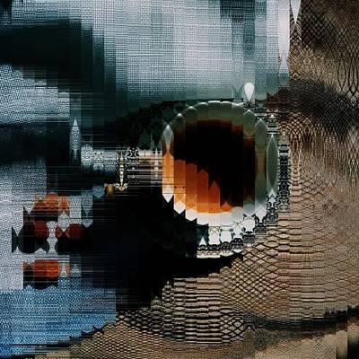 Coffe Digital Art - Coffee Squared by Feel The Glitch