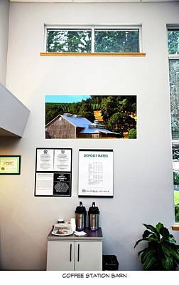 Jerry Sodorff Royalty-Free and Rights-Managed Images - Coffee Station Barn by Jerry Sodorff