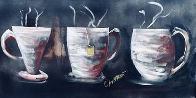 Painting - Coffee Tea Or Chocolate by Chuck Gebhardt
