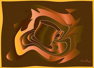 Digital Art - Coffee Time  #2 by Iris Gelbart