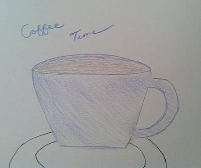 Drawing - Coffee Time by Alohi Fujimoto