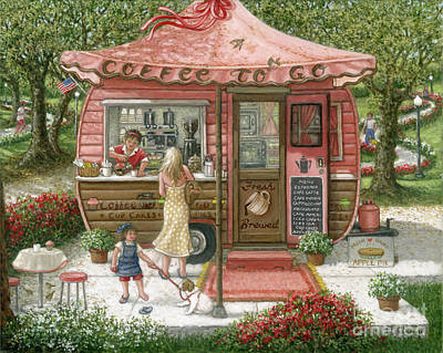 Painting - Coffee To Go by Janet Kruskamp