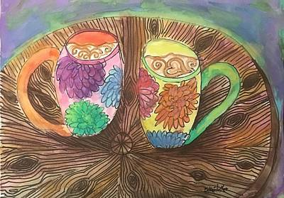Painting - Coffee With A Friend  by Dottie Phelps Visker