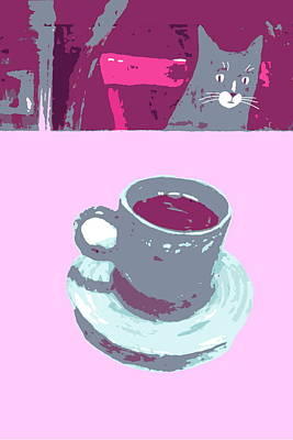 Painting - Coffee With Henry #6 by Kazumi Whitemoon