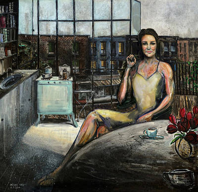 Tate Gallery Painting - Coffee With Kate by Antonio Ortiz