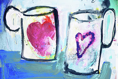 Painting - Coffee With Love by Amara Dacer