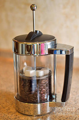 Plunger Photograph - Coffee With Sugar by Louise Heusinkveld