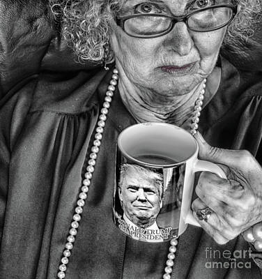 Coffee With Trump  Art Print by Steven Digman