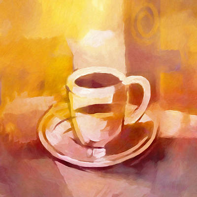 Painting - Coffeetime by Lutz Baar