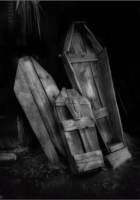Photograph - Coffins Jerome Arizona  by Gary Warnimont