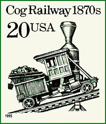 Cog Railway 1870s Art Print