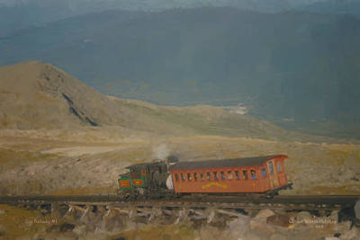 New Hampshire Artist Painting - Cog Railway Mount Washington by Bill McEntee