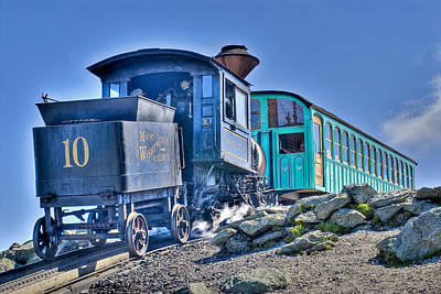 Cog Train Mount Washington Art Print