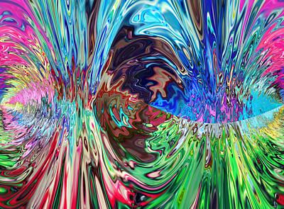Abstract Seascape Mixed Media - Cogito Ergo Sum by Sir Josef - Social Critic - ART