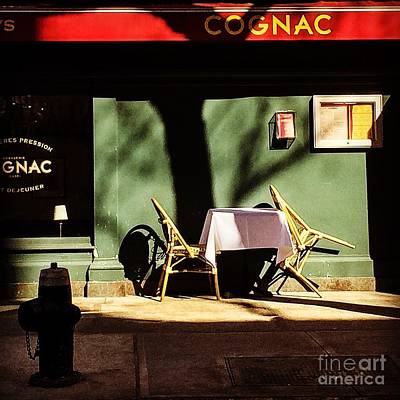 Photograph - Cognac - Cafe Table For Two by Miriam Danar