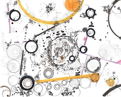 Drawing - Cogs And Levers by Regina Valluzzi