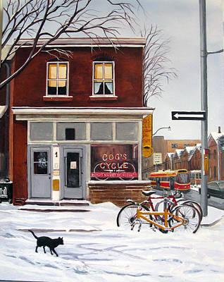 Painting - Cog's Cycle by Margit Sampogna
