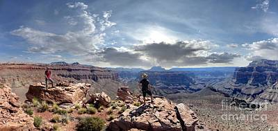 Spot Of Tea - Cogswell Butte Panorama - Surpricse Valley - Grand Canyon by Bruce Lemons