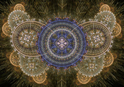 Digital Art - Cogwheel Butterfly  by Martin Capek