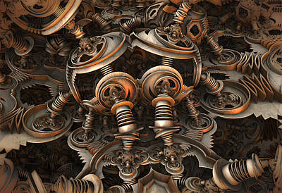 Digital Art - Coil Springs by Hal Tenny