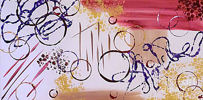 Abstract Handbag Painting - Coiled Concoction by Jilian Cramb - AMothersFineArt