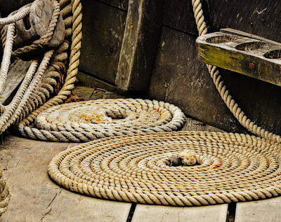 Coiled Rope From Philadelphia II Gunboat Art Print by Rena Trepanier