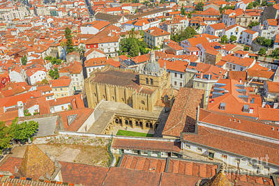 Photograph - Coimbra Cathedral Aerial by Benny Marty