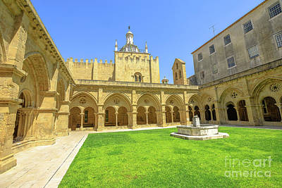 Photograph - Coimbra Old Cathedral Cloister by Benny Marty
