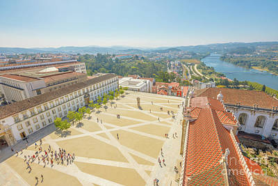 Photograph - Coimbra University Aerial by Benny Marty