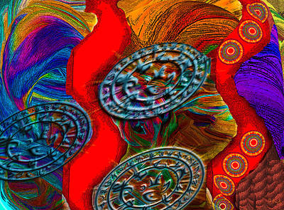 Digital Art - Coins by Phillip Mossbarger