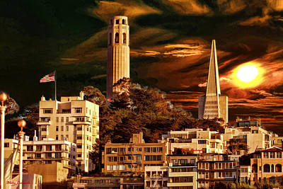 Photograph - Coit Pyramid by Blake Richards