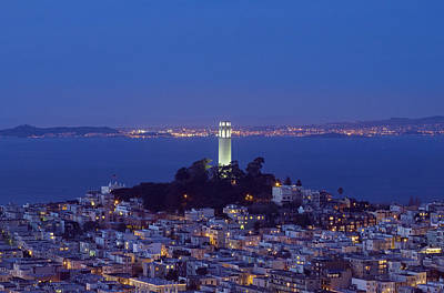 Coit Tower At Dusk San Francisco California Art Print by Carol M Highsmith