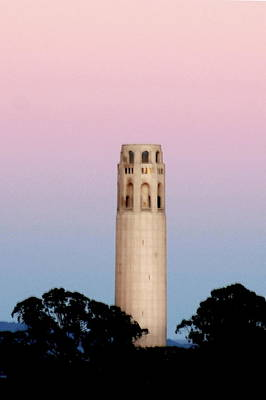 Photograph - Coit Tower At Sunset by Lawrence Pratt
